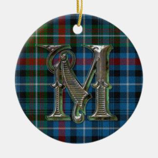 MacDonald Plaid Monogram ornament