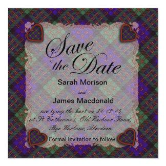 Macdonald Scottish clan tartan - Plaid Card