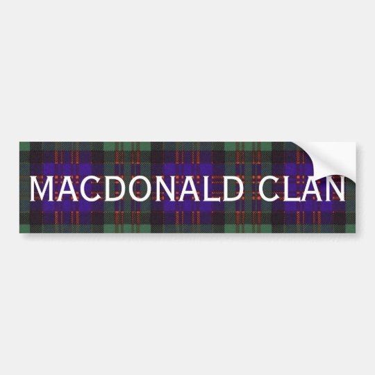 MacDonald Scottish Tartan Bumper Sticker