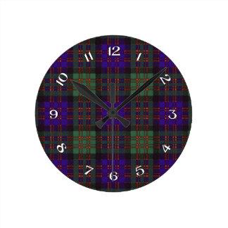 MacDonald Scottish Tartan Round Clock