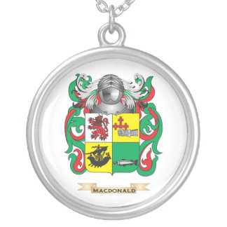 MacDonald-(Slate) Coat of Arms (Family Crest) Personalized Necklace