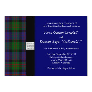 MacDonald Tartan Celtic Wedding Invitation