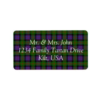 MacDonald Tartan Label Address Label