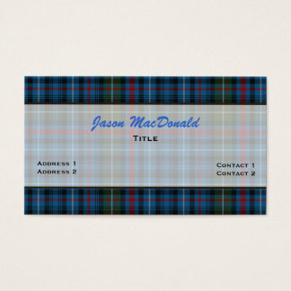 MacDonald Tartan Plaid Custom Business Card