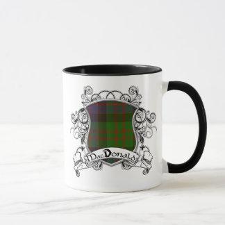MacDonald Tartan Shield Mug