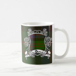 MacDonald Tartan Shield Classic White Coffee Mug