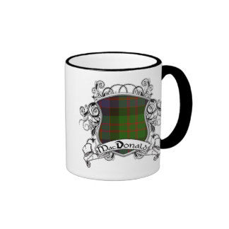 MacDonald Tartan Shield Ringer Mug