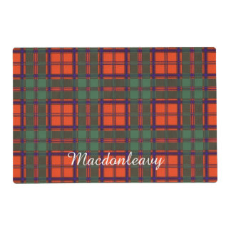 Macdonleavy clan Plaid Scottish kilt tartan Laminated Place Mat