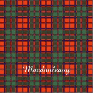 Macdonleavy clan Plaid Scottish kilt tartan Acrylic Cut Out