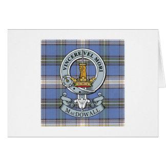 MacDowall Crest + Tartan Greeting Card