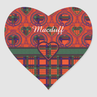 Macduff clan Plaid Scottish tartan Heart Sticker