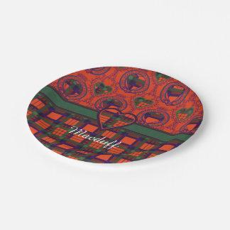 Macduff clan Plaid Scottish tartan Paper Plate