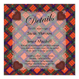 Macduff Scottish clan tartan - Plaid 5.25x5.25 Square Paper Invitation Card