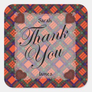 Macduff Scottish clan tartan - Plaid Stickers