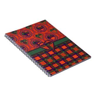 MacDuff Scottish Tartan Hearts Notebook