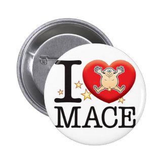 Mace Love Man 6 Cm Round Badge