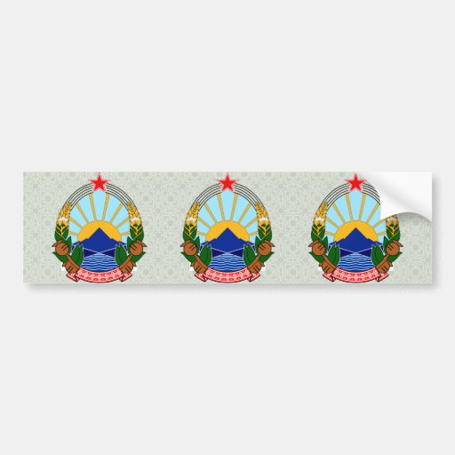 Macedonia Coat of Arms detail Bumper Stickers