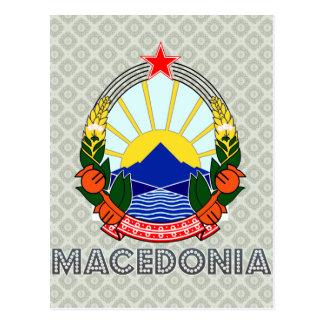 Macedonia Coat of Arms Postcard