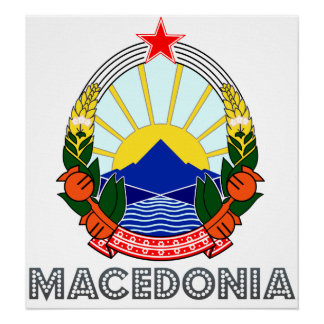 Macedonia Coat of Arms Poster