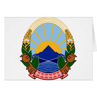 macedonia emblem greeting card