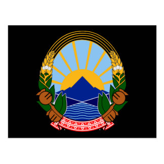 macedonia emblem postcard