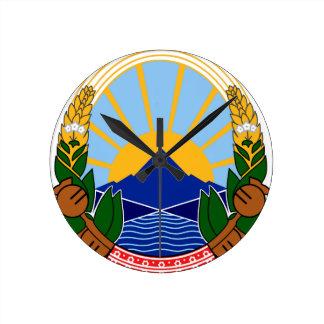 macedonia emblem wallclock