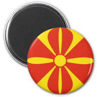Macedonia Fisheye Flag Magnet