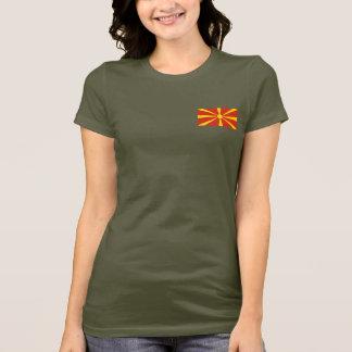 Macedonia Flag and Map dk T-Shirt
