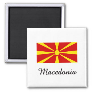 Macedonia Flag Design Magnet