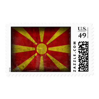 Macedonia Flag Distressed Stamps
