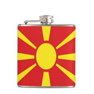 Macedonia Flag Hip Flask