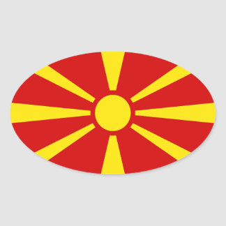 Macedonia Flag Oval Sticker