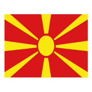 Macedonia Flag Postcard