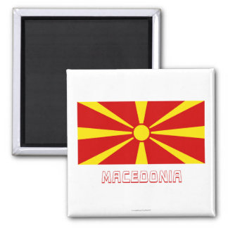 Macedonia Flag with Name Magnet