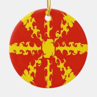 Macedonia Gnarly Flag Christmas Ornament