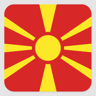 Macedonia – Macedonian Flag Stickers
