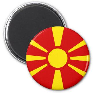 macedonia 6 cm round magnet