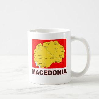 Macedonia Map Basic White Mug