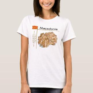 Macedonia Map + Flag + Title T-Shirt