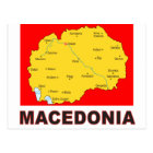 Macedonia Map Postcard