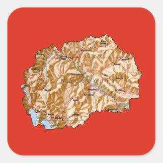Macedonia Map Sticker