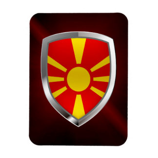 Macedonia Metallic Emblem Magnet