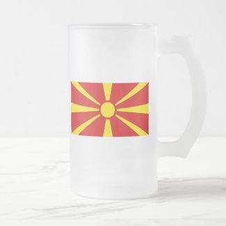 macedonia frosted glass mug