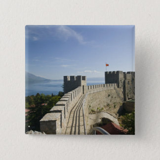 MACEDONIA, Ohrid. Car Samoil's Castle - Castle 15 Cm Square Badge