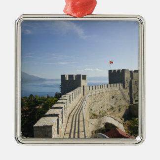 MACEDONIA, Ohrid. Car Samoil's Castle - Castle Christmas Ornament