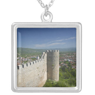 MACEDONIA, Ohrid. Car Samoil's Castle / Silver Plated Necklace