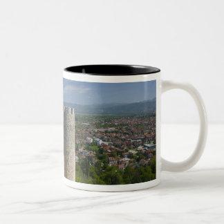 MACEDONIA, Ohrid. Car Samoil's Castle / Two-Tone Coffee Mug