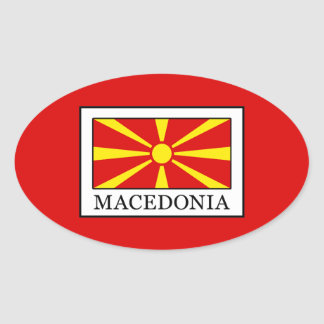 Macedonia Oval Sticker