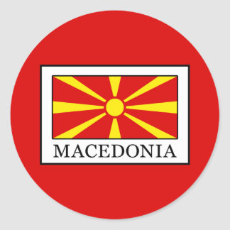 Macedonia Round Sticker