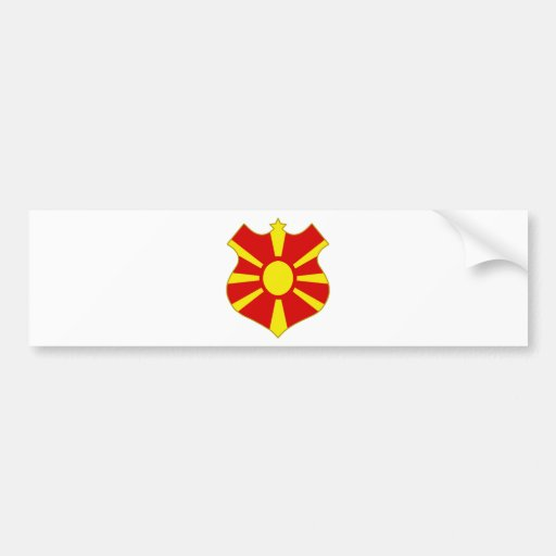 Macedonia-shield.png Bumper Stickers